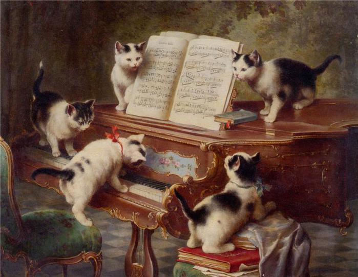 коты за роялем