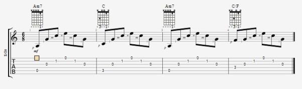 игра аккордов перебором