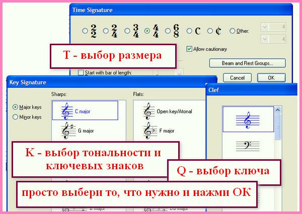 при наборе нот в Sibelius удобно использовать горячие клавиши