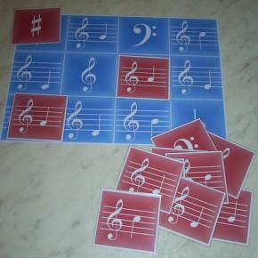 нотные карточки