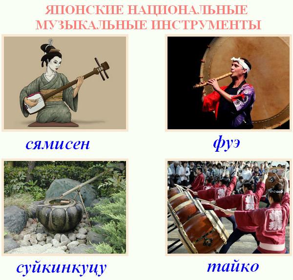 японские народные музыкальные инструменты