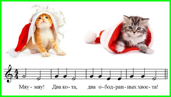 пьеса для фортепиано два кота