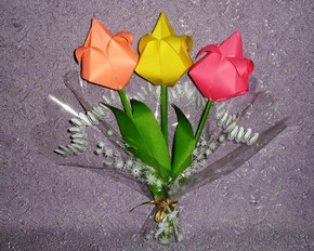 как сделать тюльпаны из бумаги
